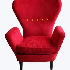 Ponti style red and yellow chairs FULL