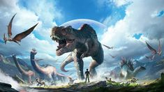 Snail Games has released a ton of new information on their upcoming VR experience ARK Park. The spin-off of ARK: Survival Evolved is set to release later this year for PlayStation VR, and the studio was Dinosaur Videos, Dinosaur Art, The Good Dinosaur, Dinosaur Games, Prehistoric Wildlife, Prehistoric Creatures, Game Ark Survival Evolved, Godzilla, Dinosaur Illustration