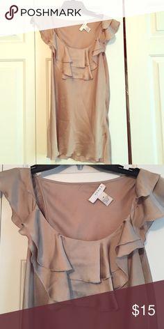 Kenar sleeveless top. Beautiful soft gold ruffled top. Kenar Tops Blouses
