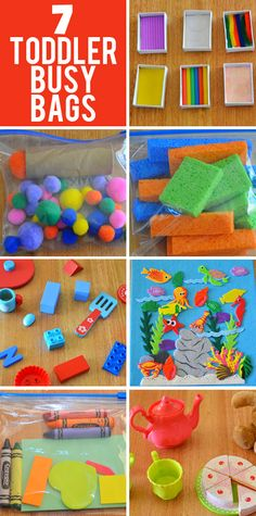 Simple to make and fun to play, your toddler will love these busy bag activity ideas.