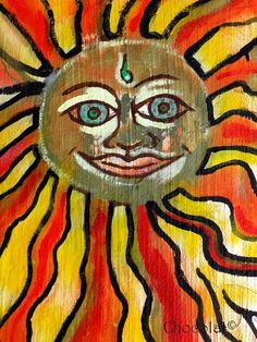 Sun print~The Third Eye