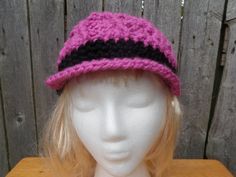 Bi-color chunky crochet newsboy cap, swirly bi color hat, made to order from Crochet By Mel. Chunky Crochet, Crochet Beanie, Knitted Hats, Crochet Hats, Boho Trends, Newsboy Cap, Hat Making, Winter Hats, My Etsy Shop