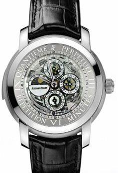 Audemars Piguet Jules Audemars Perpetual Calendar Minute Repeater Platinum Men's Watch 26063PT.OO.D002CR.01