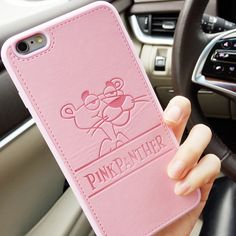 For iPhone 6 6s 6 Plus PU Leather Cartoon Panther Cases Soft Pink Panther Soft Shell Cover for iPhone 7 7 Plus Cqoue Fundas #Affiliate