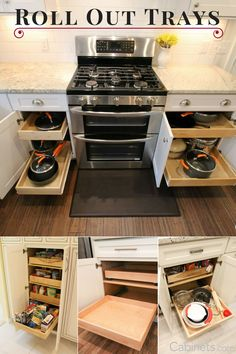 One of our most popular #cabinet upgrades is to add a #RollOutTray. With a Roll Out Tray, accessing everything in your lower (base) cabinets is much easier; no more getting on your hands & knees to look for your saucepan!