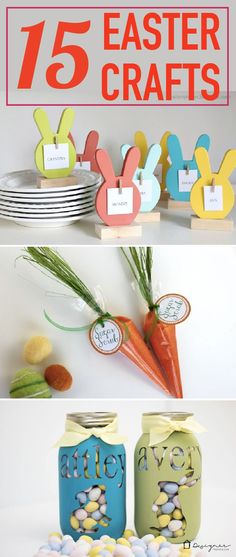 Check out these adorable Easter craft ideas from lots of different bloggers! There are some great Easter decor, Easter decorations and Easter egg decorating ideas in this round-up!