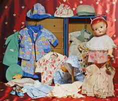 "COMPOSITION EFFANBEE CHILD DOLL ""PATSY ANN"" WITH TRUNK OF CLOTHES"