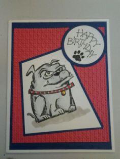 Crazy Dog stamp by Tim Holtz