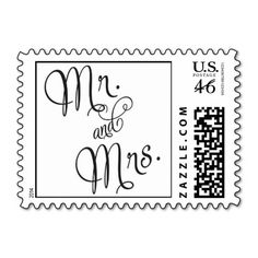 Mr. and Mrs. Wedding stamp