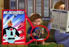 Disney Secrets In Movies, Disney Films, Film Rio, Brave 2012, Up 2009, The Incredibles 2004, Toy Story 3, Learn To Swim, The Good Dinosaur