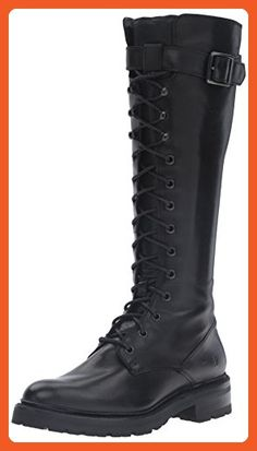 online shopping for FRYE Women's Julie Lace Tall Combat Boot from top store. See new offer for FRYE Women's Julie Lace Tall Combat Boot Lace Up Boots, Black Boots, Leather Boots, Black Leather, Fashion Boots, Sneakers Fashion, Combat Boots Style, Frye Boots, Calf Boots