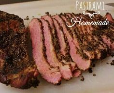 Easy Homemade Pastrami Recipe - Cheater Pastrami From A Corned Beef Brisket: Soaked, Smoked, and Steamed! Beef Brisket Recipes, Grilling Recipes, Meat Recipes, Lamb Recipes, Homemade Pastrami, Making Pastrami, Smoked Brisket, Smoked Pastrami Recipe, Smoked Beef