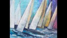 "Alice-ART Acrylbild ""Regatta"", Spachtelmasse mit Rissbildung, spackling paste with cracking - YouTube Alice, Sea Art, Painted Canvas, Canvas Ideas, Art Journaling, Mixed Media, Arts And Crafts, Collage, Printing"