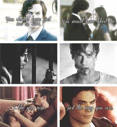 The feels. I actually think I ship Delena and Stelena. But in different ways. Vampire Diaries Quotes, Vampire Diaries Wallpaper, Vampire Diaries The Originals, Damon Salvatore, Paul Wesley, Bonnie And Enzo, The Salvatore Brothers, Vampire Dairies, Mystic Falls