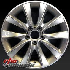 "BMW 740i wheels for sale 2011-2015. 18"" Silver rims 71586 - http://www.rtwwheels.com/store/shop/18-bmw-740i-wheels-oem-silver-71586/"
