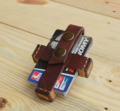 Leather Credit Card Case /Mens Leather/business by JaklinDifferent