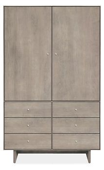 LR: Hudson Armoire - Room & Board. Can be used as an entertainment armoire (TV space - 41w x 14d x 41.5h) . (44w x 20d x 71h)