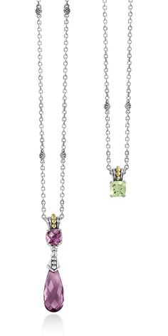Colorful options with long drop pendants or brightly faceted petite pendants. LAGOS Jewelry | Prism. Available at Hingham Jewelers!