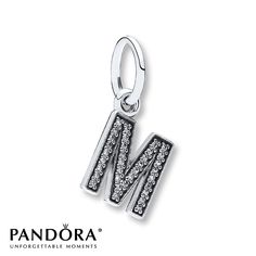 Pandora Dangle Charm Letter M Sterling Silver (Last initial)