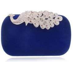 Luxury Diamonds Velvet Clutch Bag