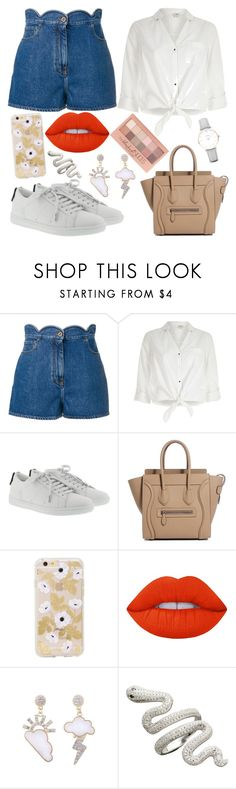 """Everyday outfit for Nadja"" by sonjarajajee on Polyvore featuring Valentino, River Island, Yves Saint Laurent, Lime Crime, Maybelline and CLUSE"