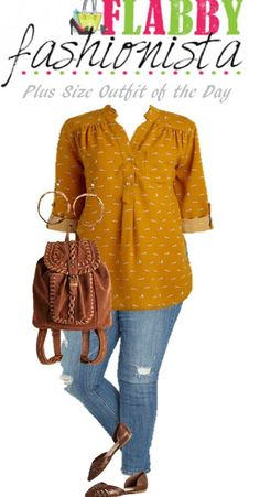 Look – Plus Size Outfit of the Day – Mustard Top… Plus Size Fashion Blog, Plus Size Fashion For Women, Curvy Fashion, Plus Size Women, Mom Outfits, Casual Outfits, Cute Outfits, Fashion Outfits, Womens Fashion