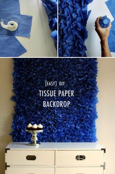 20 Easy DIY Tissue Paper Crafts DIY Paper Lanterns Paper lanterns come in diverse sizes and styles a Paper Backdrop, Diy Backdrop, Diy Birthday Backdrop, Backdrop Photobooth, Backdrop Frame, Photo Backdrops, Photography Backdrops, Christmas Backdrop Diy, Moana Backdrop