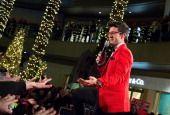 SANTA MONICA, CA - 11/23/13: Piero Barone of Il Volo performs during the HGTV Holiday House Kick-Off at Santa Monica Place.