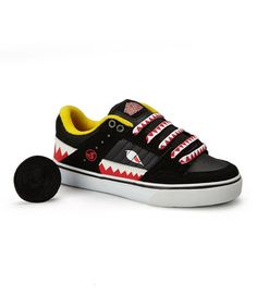 Take a look at this Black & Shark Teeth Ignition CT Sneaker by DVS Shoe Company on #zulily today!