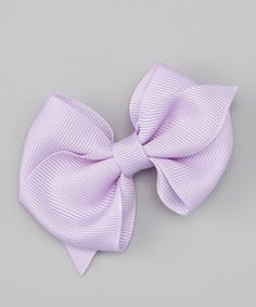 Take a look at this Lavender Bow Clip by Miss Fancy Pants on #zulily today!