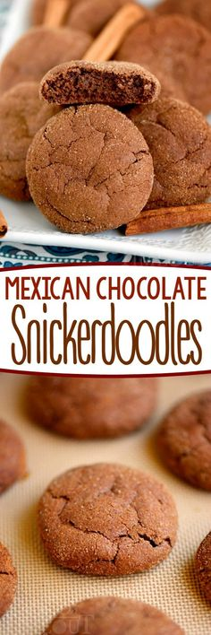 These Mexican Chocolate Snickerdoodles pack a powerful flavor punch! Cinnamon and cayenne combine for an explosion of flavor that's hard to resist. This easy cookie recipe is the perfect dessert for your chocolate loving friends!