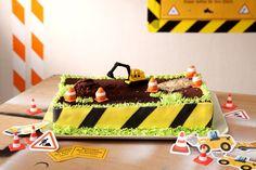 Baustelle, Kuchen, Kinderparty, Bagger, produziert für Tambini.de, Food: Eileen Greuel