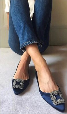 Manolo Blahnik shoes are absolute classics-- definitely a pair of shoes  worth investing in! I d absolutely go for this blue pair that s easily  dressed up or ... 43d93a3c8f4
