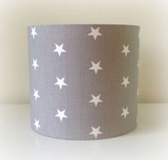 NEW LIGHT GREY STAR FABRIC 20CM 30CM LAMPSHADE LIGHTSHADE NURSERY KIDS BABY in Home, Furniture & DIY, Lighting, Lampshades & Lightshades | eBay