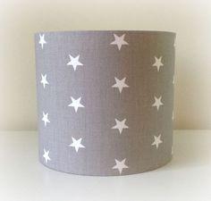 NEW LIGHT GREY STAR FABRIC 20CM 30CM LAMPSHADE LIGHTSHADE NURSERY KIDS BABY in Home, Furniture & DIY, Lighting, Lampshades & Lightshades | eBay