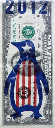 Currency printed with alternate national symbol.