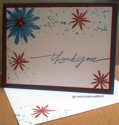 Thank you Card for Operation Write Home, made at PJ Card's Stampin Up class