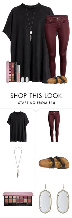 """""""❣"""" by ashtongg117 ❤ liked on Polyvore featuring H&M, Kendra Scott, Birkenstock and Anastasia Beverly Hills"""