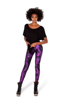 Tentacular Purple Leggings › Black Milk Clothing