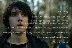 Nowhere Boys season 2 random-fact-profile #11 - Felix