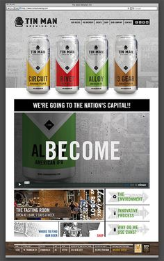 Tin Man Brewing website designed by Melodic Virtue.