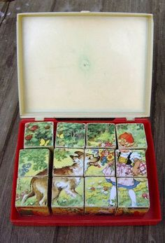 "Vintage Wooden Toys - Dice Puzzle ""Fairy Tale"" wood vintage - a design . 1970s Childhood, My Childhood Memories, Childhood Toys, Sweet Memories, Good Old Times, Retro Toys, Vintage Toys 1970s, 90s Kids, My Memory"