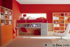love the work space and the bed in one and the bright colors.