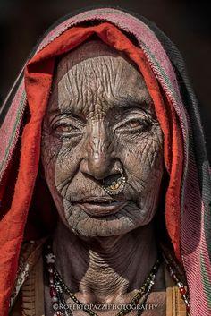Elderly woman in Jaipur, India