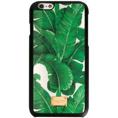 Dolce & Gabbana Banana Leaf Print iPhone 6 Case (€165) ❤ liked on Polyvore featuring accessories, tech accessories and green