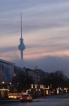 The Berlin TV Tower covered by the mist of the clouds Cities In Germany, Berlin Germany, Places To Travel, Places To Visit, Berlin City, Berlin Berlin, Berlin Travel, City Aesthetic, Beautiful World