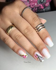 Pink is an indispensable favorite color for girls. Whether it is an girl or a younger intellectual sister, the pink charm is unst. Solid Color Nails, Nail Colors, Romantic Nails, Manicure E Pedicure, Top Nail, Pink Tone, Nail Decorations, Short Nails, Beauty Nails