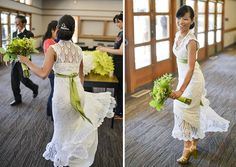 """""""Most women spend thousands on their wedding dress, I made mine for $30 while riding the bus."""""""