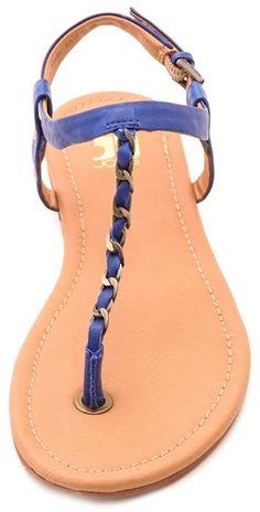 cute #blue chain trim sandals http://rstyle.me/n/itqd9r9te