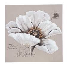 Image result for three piece painting white flowers